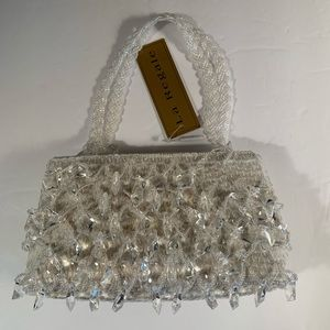 La Regale Crystal sequin and beaded evening bag